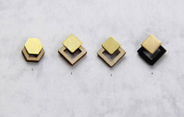 WOODEN Studs Square & Hexagon