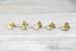 RING Brass Geometric Shapes