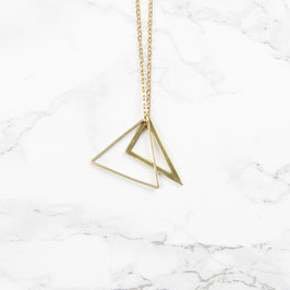 NECKLACE long geometric Triangle Mix