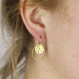 EARRINGS Circle Round hammered