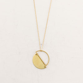 NECKLACE asymmetrical Semi Circle