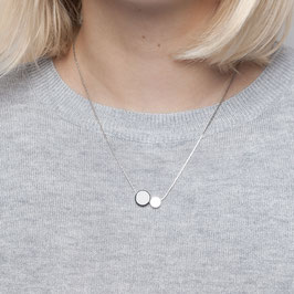 NECKLACE short silver Gem & Circle