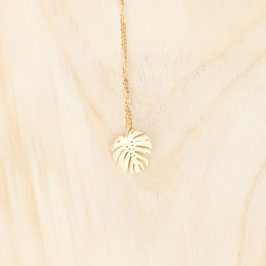 NECKLACE short Monstera Leaf