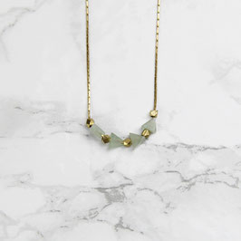 GEMSTONE Necklace short Triangle