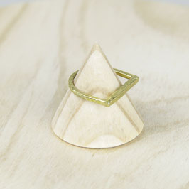 RING Brass hammered
