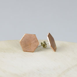 COPPER Stud Hexagon