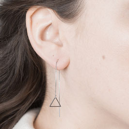 THREAD Earring Triangle silver