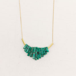 GEMSTONE Necklace short Fan