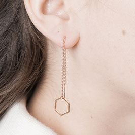 THREAD Earring Shapes rosé
