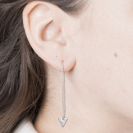 THREAD Earring simple Triangle silver