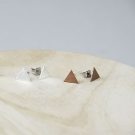 STUDS geometric Triangles Copper/Silver/Brass