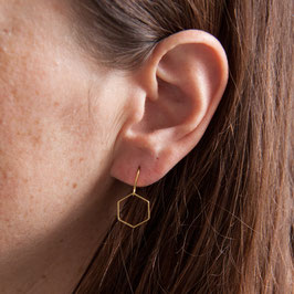 EARRING simple Hexagon