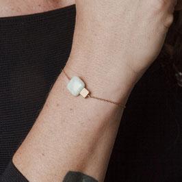 GEMSTONE Bracelet Marble Square