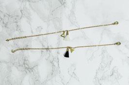 COTTON Bracelet Tassel & Triangles