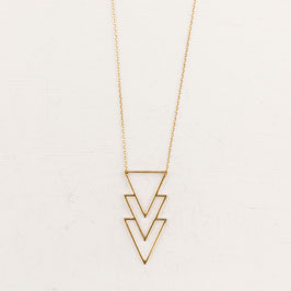 NECKLACE long lasered Triangle