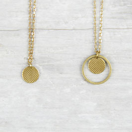 NECKLACE short mini Circle structured
