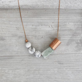 COPPER Necklace long Marble