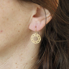 EARRING lasered Mandala Circle