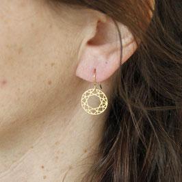 EARRING lasered Mandala Circle