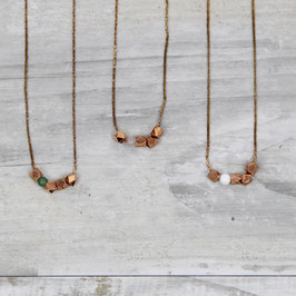 COPPER Necklace short Nuggets