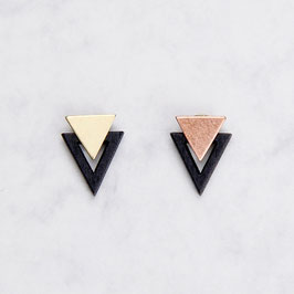 WOODEN Studs Triangles Black