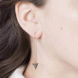 THREAD Earring Triangle Marble