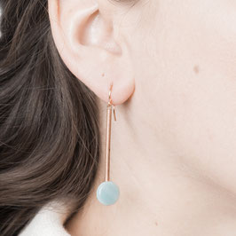 COPPER Earring Bar & Gem