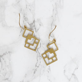 EARRINGS Squares in Squares