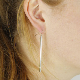 EARRING geometric Bar silver