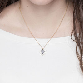NECKLACE short Square marbled