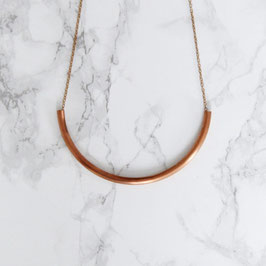 COPPER Necklace short simple Tube