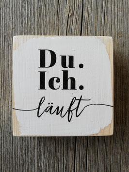Holzschild mini 10x10cm mit Text