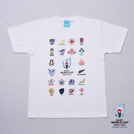 RWC2019™ 20 UNIONS COLLECTION Tシャツ WHT