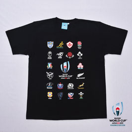 RWC2019™ 20 UNIONS COLLECTION Tシャツ BLK