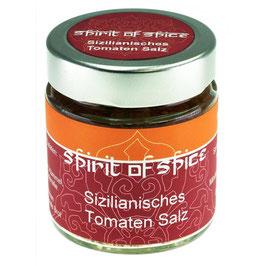Sizilianisches Tomaten Salz 60g Glas