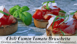 Chilli Cumin Tomato Bruschetta 1Stck