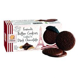 Französische Butter Cookies mit Zartbitterschokolade  135g Pck.