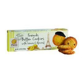 Französische Butter Cookies Zitrone & Mandeln 150g Pck.
