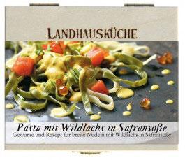 Pasta mit Wildlachs in Safransoße 1Stck