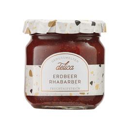 Erdbeer-Rhabarber Fruchtaufstrich - 215 g Glas