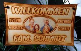 Türschild - personalisiert mit Ihr Name und Foto Deko Haus