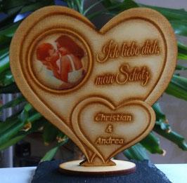 Liebe Geschenk IHR FOTO+TEXT Valentinstag Liebeserklärung Geburtstag Liebe Herz