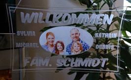 Türschild - personalisiert mit Ihr Name und Foto- Deko