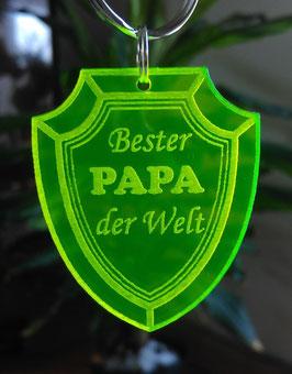BESTER PAPA DER WELT-VATERTAG GESCHENK SCHLÜSSELANHÄNGER ACRYLGLAS GEBURTSTAG**