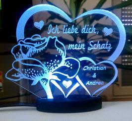 Ich liebe dich, mein Schatz - Valentinstag Geschenk Geburtstag Liebe *LED-Licht*