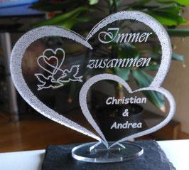 HERZ LIEBE LIEBESERKLÄRUNG VALENTINSTAG mit Ihrem Namen eingraviert