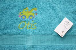 Handtuch mit Namen & Stickbild Kranauto