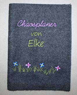 "Kalenderhülle ""Chaosplaner"" mit Namen aus Wollfilz"