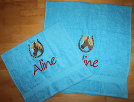 Handtuch & Duschtuch bestickt mit Motiv und Namen