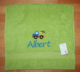 Handtuch mit Namen & Stickbild Kipper